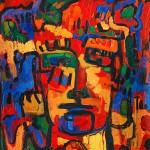 (1991) Autoretrat (a Maurice de Vlaminck) - Acrylic on canvas - 116x89