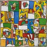 (2011) Darrere les portalades de la ciutat celeste - Mixed media on canvas - 120x120
