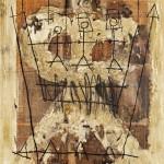 (1993) Eiximent col.lectiu per damunt de les murades - Mixed media on canvas - 100x80