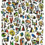 (2010) Hi han esplèndides configuracions dins la ciutat celeste - Watercolour on paper - 76x56