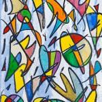 Alegria en el Cel- Lc 15-7 (2014) - Pit Grafit, Gouache, Llapis Grafit, Oli sobre paper- 46 x 32,50