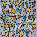 Configuracions del Verger Celeste 02 (2014) - Uniposca, Aquarel·la, Oli, Grafit sobre paper 46 x 32,50