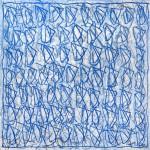 El Cel explica la Glòria de Déu 04 (2014) - Gesso, Encáustica, Oli, Glasochrom sobre tauler 40 x 40