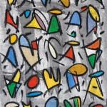 Els Manaments del Senyor són rectes, alegren el Cor (2014) - Aquarel·la, Ceres d'oli, Grafit sobre paper 46 x 32,50