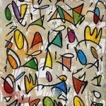 Per tota la Terra s'escampa la Crida de Déu 03 (2014) - Gouache, Ceres d'oli, Grafit sobre paper 46 x 32,50