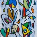 Verger Celeste 01 (2014) - Ceres d'oli, Gouache, Aquarel·la, oli sobre paper 46 x 32,50